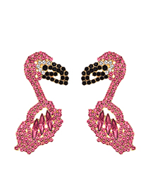 Fashion Pink Alloy Studded Stud Earrings