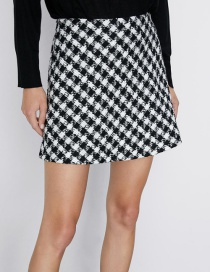 Fashion Lattice Tweed Mini Skirt