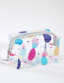 Fashion Pineapple Cartoon Flamingo Transparent Wash Bag