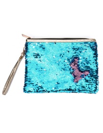Fashion Powder Blue Mermaid Sequin Bag
