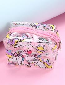 Fashion Multiple Unicorns Cartoon Unicorn Transparent Love Storage Bag
