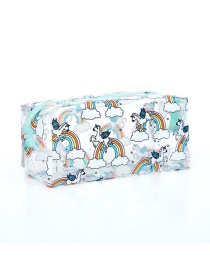 Fashion Green Long Unicorn P Transparent Cosmetic Bag