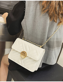Fashion Creamy-white Pure Color Shoulder Bag
