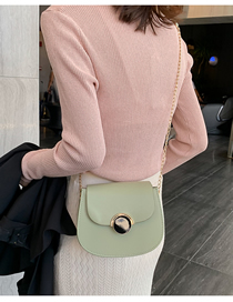 Fashion Green Chain Shoulder Messenger Bag
