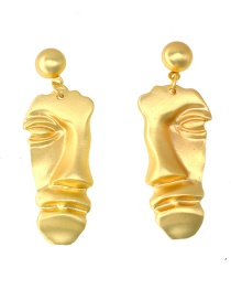 Fashion Gold Face Earrings