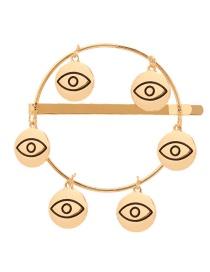 Fashion Gold Alloy Palm Eye Hair Clip