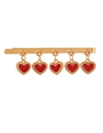 Fashion Red Love Drop Oil Clip
