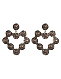 Fashion Black Diamond Heart-shaped Crystal Earrings