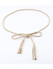 Fashion Khaki Woven Korean Cashmere Waist Chain
