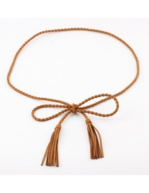Fashion Camel Woven Korean Cashmere Waist Chain