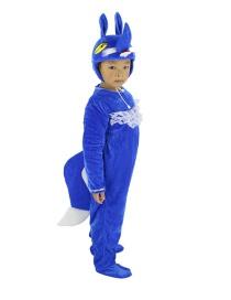 Fashion Blue Fox Split Long Cartoon Little Fox Costume