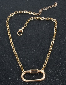 Fashion Gold Locking Multi-layer Necklace