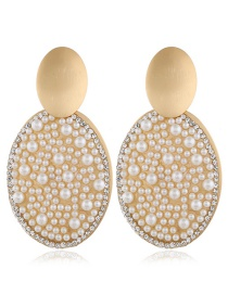 Fashion White Alloy Diamond Earrings