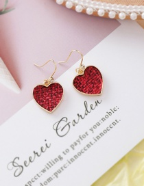 Fashion Red (love) Texture Round Love Earrings