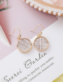 Fashion Beige (round) Texture Round Love Earrings