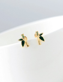 Fashion Gold S925 Silver Zircon Earrings