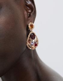 Pendientes Colgantes De Diamantes De Aleación