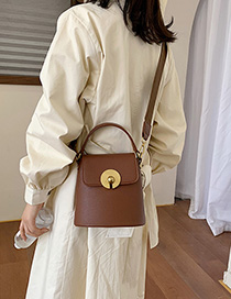 Fashion Brown Wide Shoulder Strap Shoulder Messenger Bag