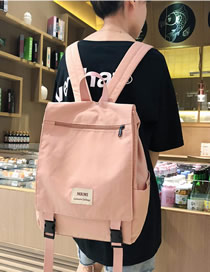 Fashion Pink Labeled Large Cover Backpack