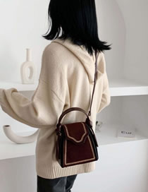 Fashion Brown Shoulder Shoulder Solid Color Messenger Bag