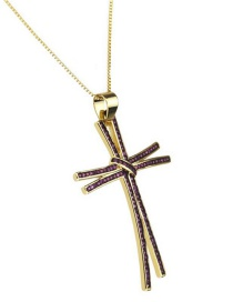 Fashion Gold-plated Red Zirconium Zirconium Cross Necklace
