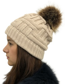Fashion Beige Without Cc Standard Wool Cap