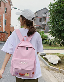 Fashion Pink Silicone Letter Labeling Backpack