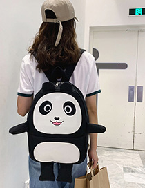 Fashion Black Panda Backpack