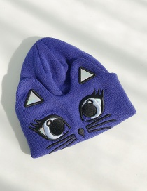 Fashion Cat Navy Cat Wool Cap