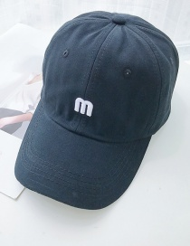 Fashion M Black M Letter Baseball Cap
