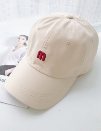 Fashion M Beige M Letter Baseball Cap