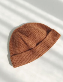 Fashion Snap Coffee Buckle Wool Cap