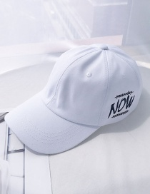Fashion Now White Printed Letter Baseball Cap