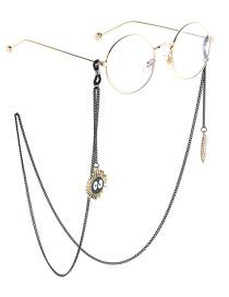 Fashion Black Hanging Neck Briquettes Chain Glasses Chain