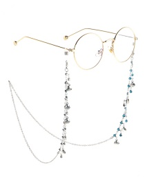 Fashion Silver Chain-studded Shell Glasses Chain