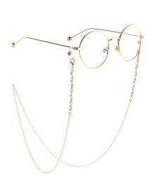 Fashion Gold Pearl Chain Does Not Fade The Glasses Chain