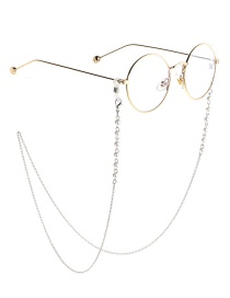 Fashion Silver Pearl Chain Does Not Fade The Glasses Chain