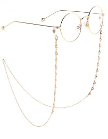 Fashion Gold Chain Gold Hollow Heart Chain Glasses Chain