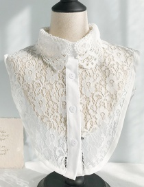 Fashion Lace Flower A White Flower Lace Fake Collar  Polyester