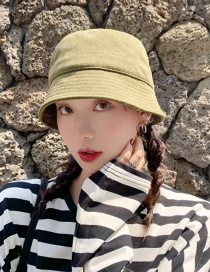 Fashion Fine Corduroy Bucket Cap Army Green Short Fisherman Hat  Corduroy