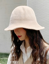 Fashion Thin Strip Of Chenille Beige Chenille Wool Cap  Chenille
