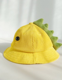 Fashion Dinosaur Yellow With Eyes Corduroy Cartoon Children's Cap