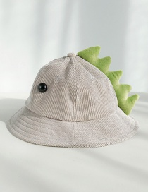 Fashion Dinosaur Gray With Eyes Corduroy Cartoon Children's Cap