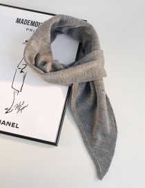 Fashion Beveled Scarf Dark Gray Knitted Woolen Collar