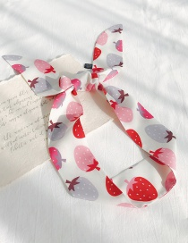 Fashion Rice Pink Strawberry Cartoon Print Streamers Ribbon