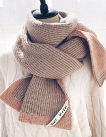 Fashion Striped Fur Knitted Woolen Striped Scarf