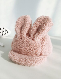 Fashion Lamb Hairy Pink Lamb Velvet Rabbit Ears Soft Baby Baseball Cap