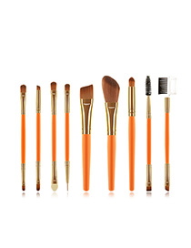 Fashion Orange 9 Stick Makeup Brush