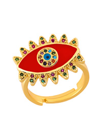 Fashion Red Eye Drop Ring