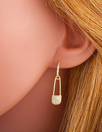 Fashion Pin S925 Silver Pin Earrings